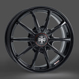Wolfrace Pro-lite 7.5x17 Gloss black 4 and 5 stud (wheels drilled to order)