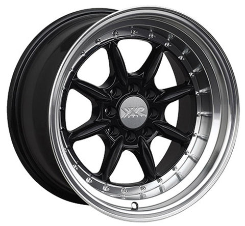 XXR 002.5 15 x 8 INCH - ET0 - 100 + 114.3 x 4 PCD - GLOSS BLACK POLISHED LIP