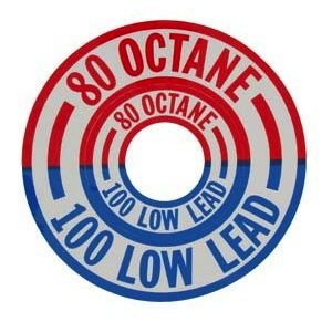 80 Octane/100Low Lead(red/blue)
