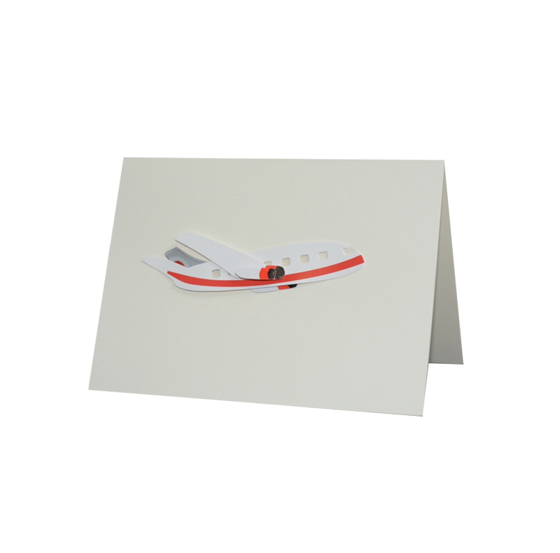 Cut Out Notecard Red