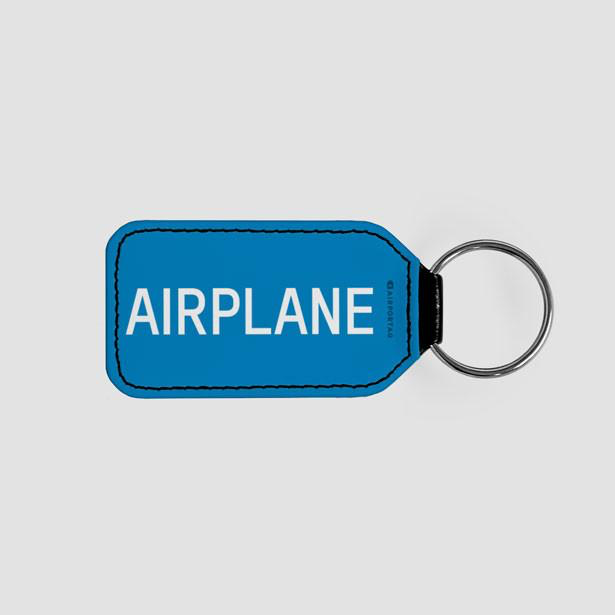 Airplane - LEATHER KEYCHAIN