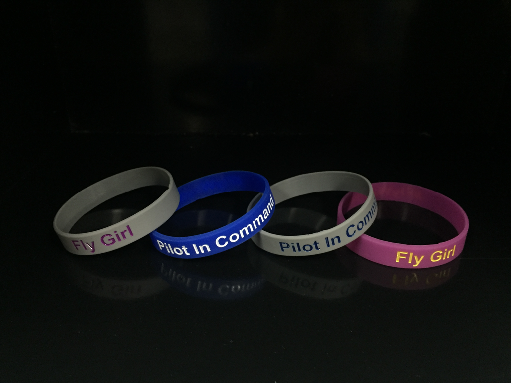 Fly Girl Wristband Grey