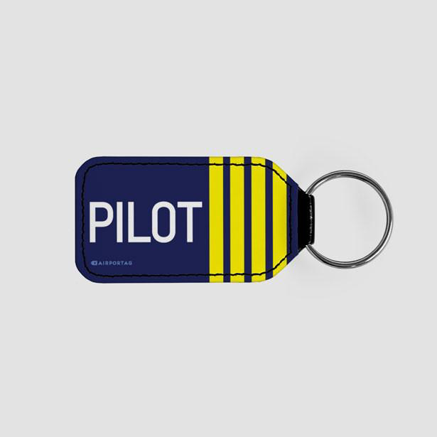 Pilot Stripes - LEATHER KEYCHAIN