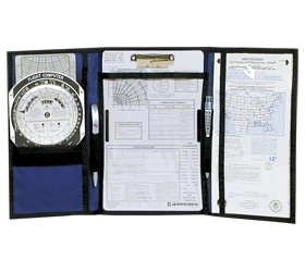 VFR Tri-fold Kneeboard with Clipboard