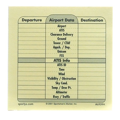 Airport Infomation Notes