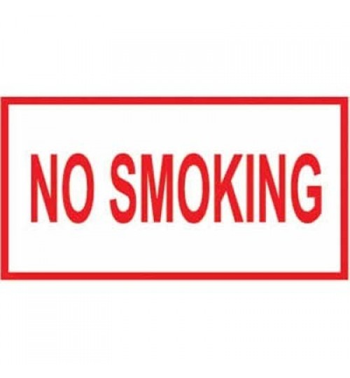 "Placard: No Smoking ""Red Letter"""