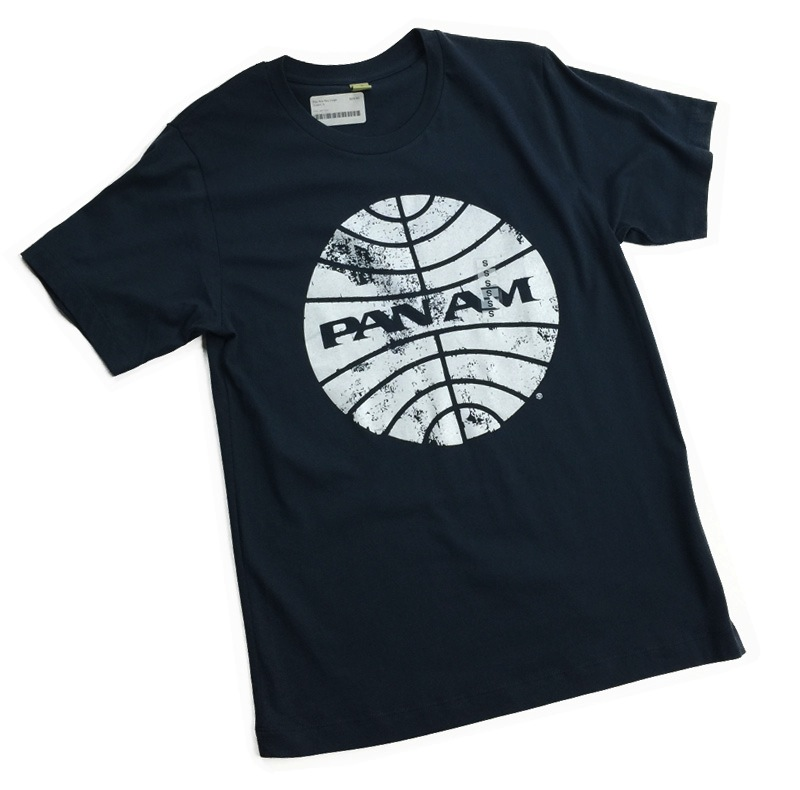 Pan Am Logo Navy T-Shirt
