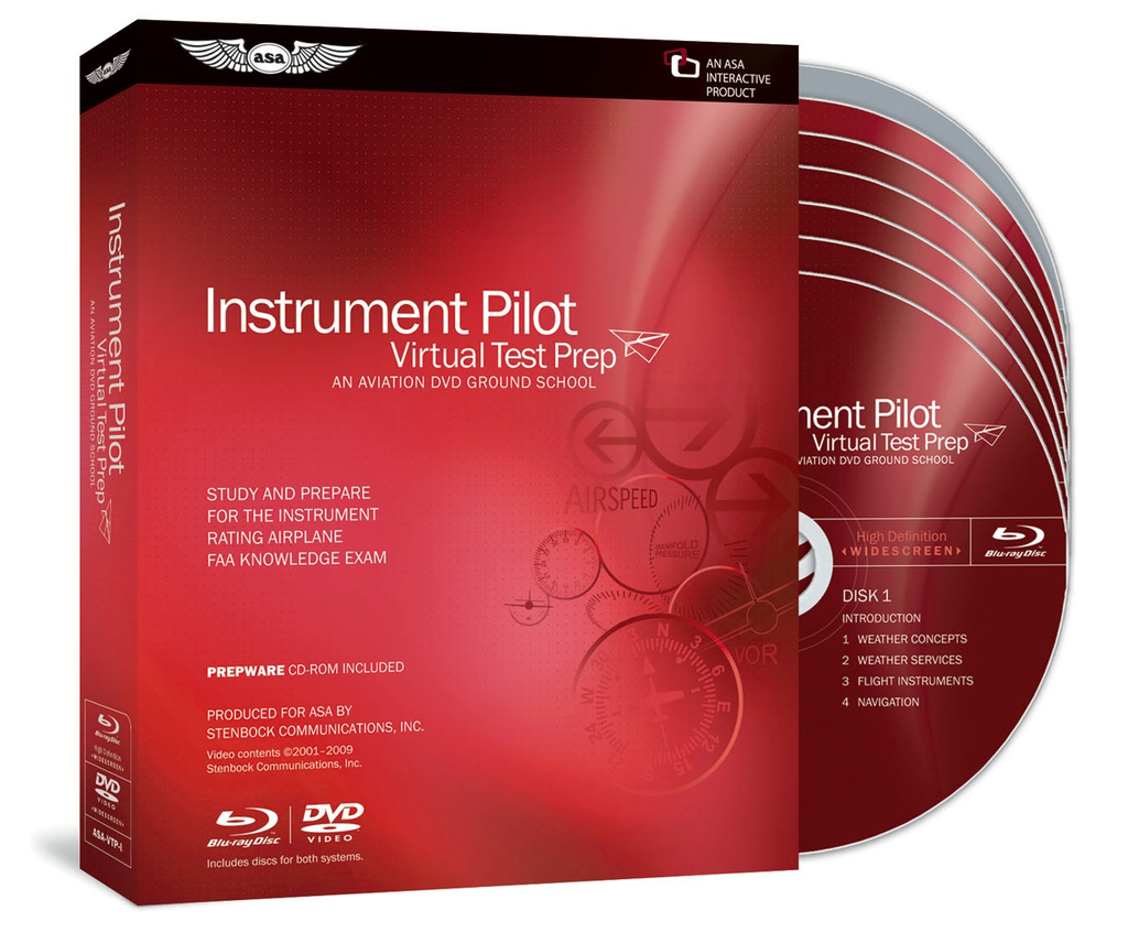 Blu-Ray/DVD: Instrument Pilot Virtual Test Prep