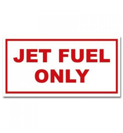 "Sticker: Jet Fuel Only ""Red Letters"
