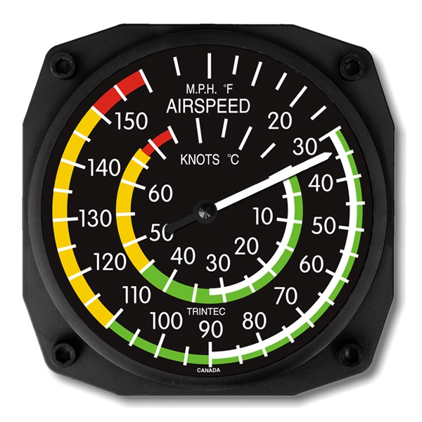 Airspeed Indicator Wall Thermometer