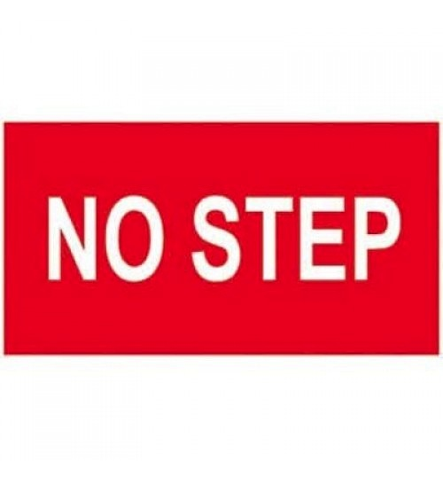 "Sticker: No Step ""White Letters"""