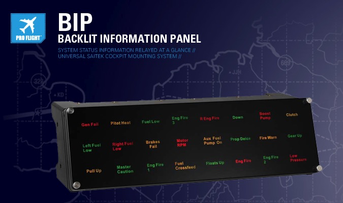 Saitek Pro Flight Backlit Information Panel