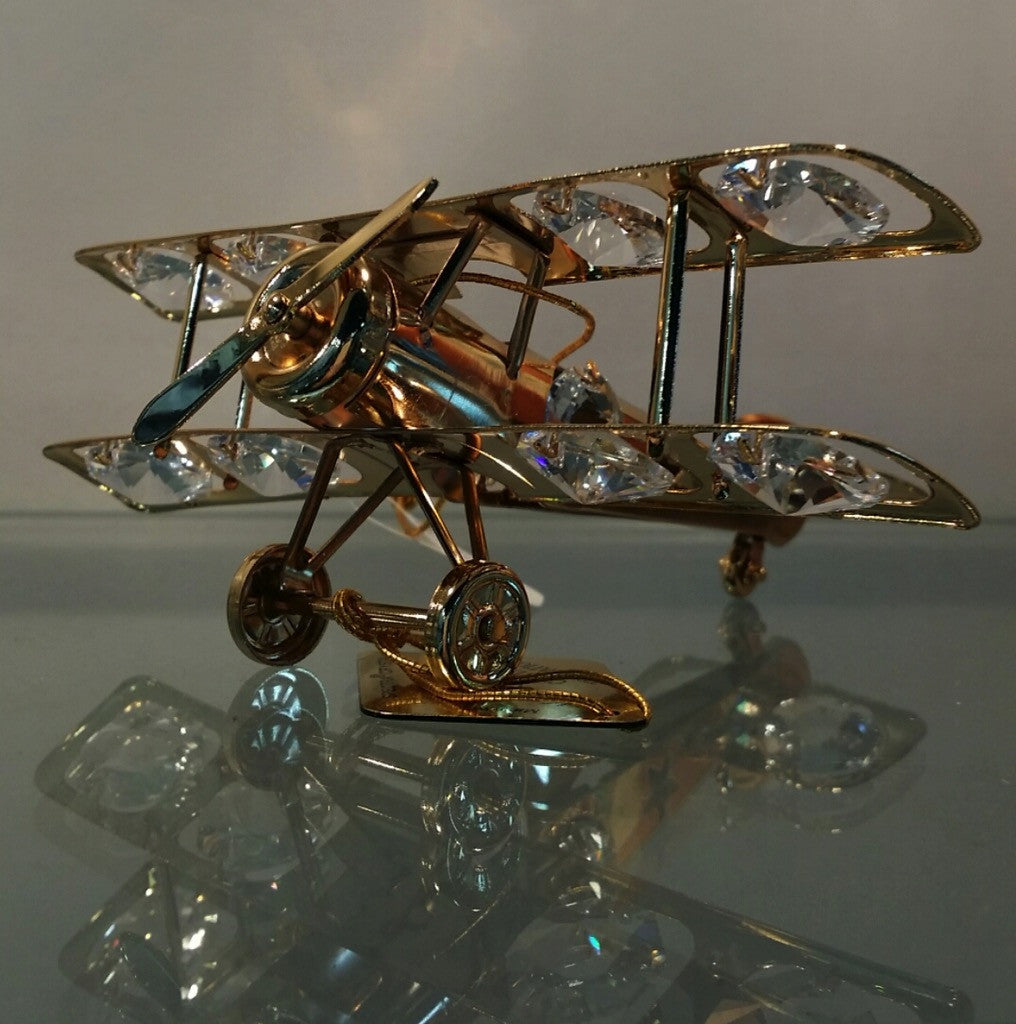 Crystal Airplane Ornament