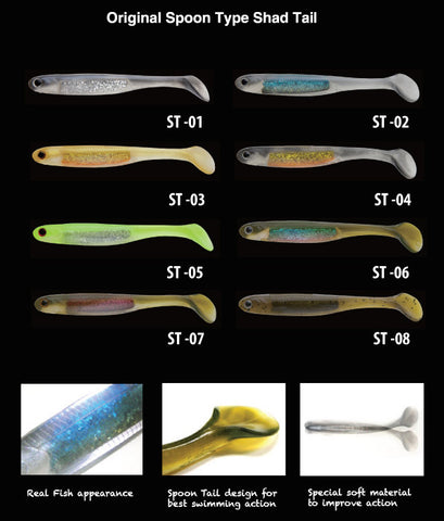 Nories Spoon Tail Shad 6 inch