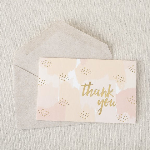 Gracious in Gold Notes - Peach