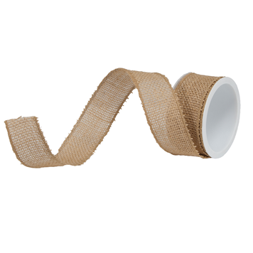 "Burlap Natural Ribbon 1.5"" - Print&Paper"