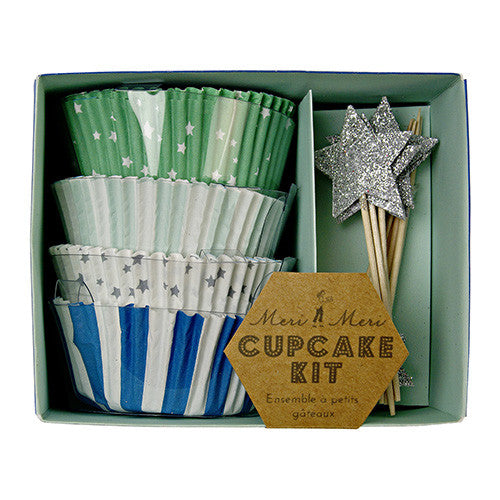 Blue Cupcake Kit - Print&Paper