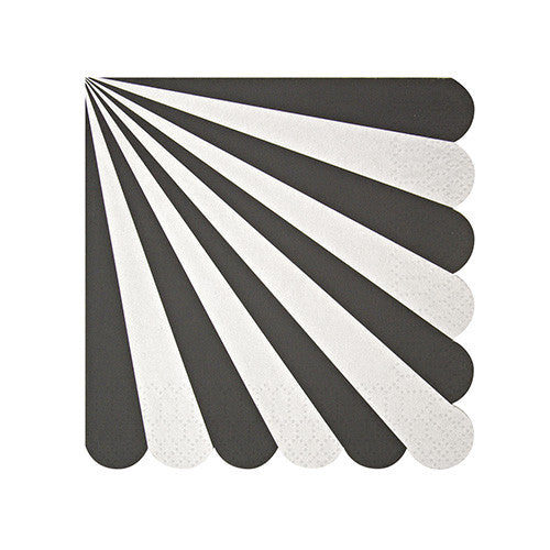 Black Stripe Small Napkins - Print&Paper