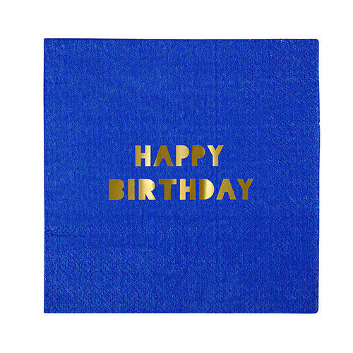 Assorted birthday napkins