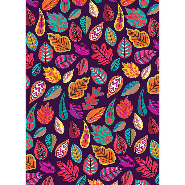 Painted Leaves Wrap, Single Sheets - Print&Paper