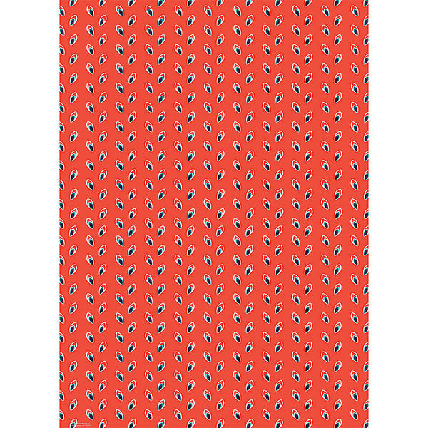 Red Mini Leaves Wrap, Single Sheets - Print&Paper