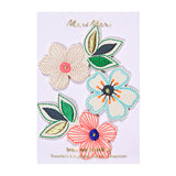 Flowers Embroidered Patches - Print&Paper