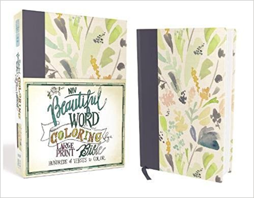 Beautiful Word Large Print Bible, Cloth Hardcover - NIV