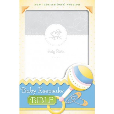 NIV Baby Keepsake Bible - White