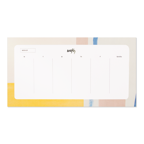 Colorblock Agenda Pad