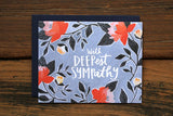 Deepest Sympathy Card - Print&Paper
