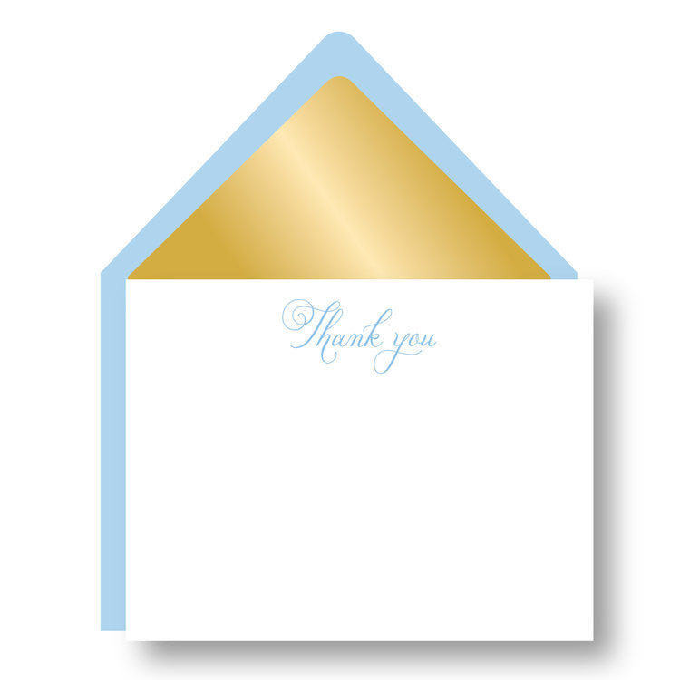 Gracious in Gold Notes - Bluebell - Print&Paper