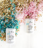 Push Pop Confetti - Gender Reveal