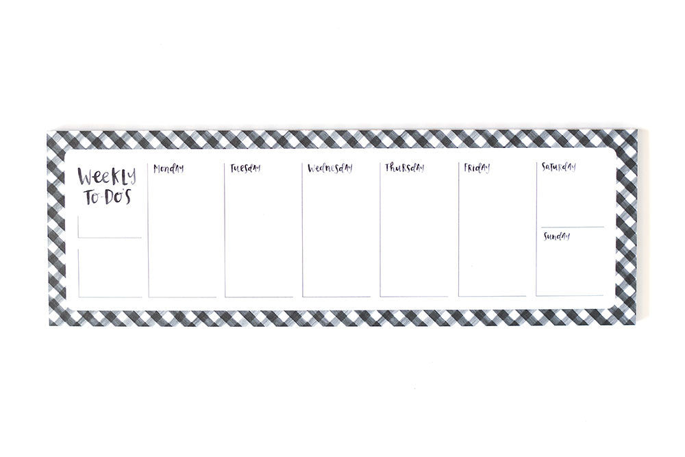 Gingham Weekly Notepad - Print&Paper