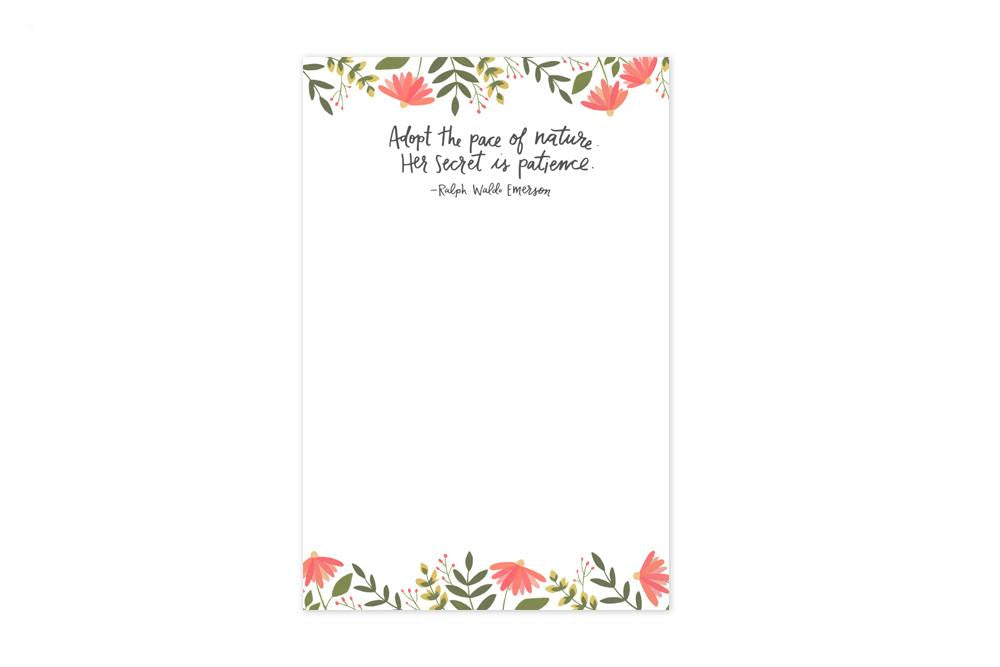 Summer Blooms Notepad