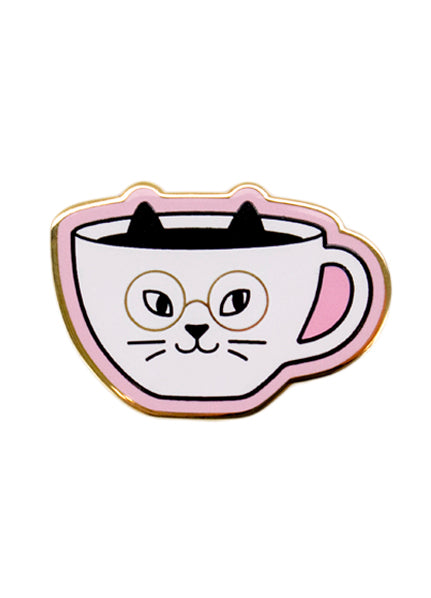 Cat Cafe Enamel Pin - Print&Paper
