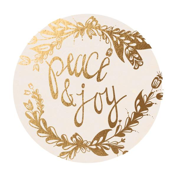 Gold Foil Coasters - Peace and Joy