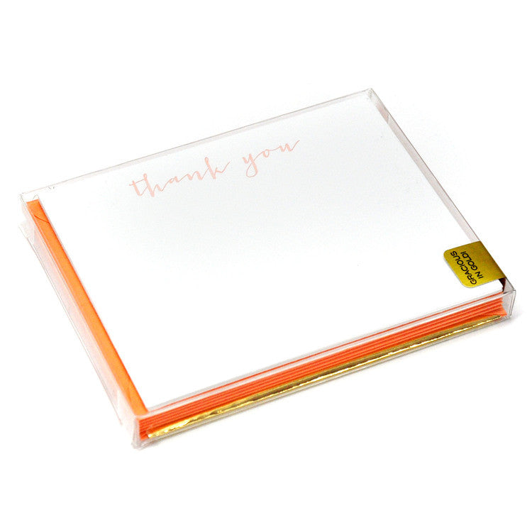 Gracious in Gold Notes - Peach - Print&Paper