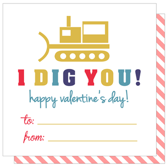 Dig You Valentine - Print&Paper