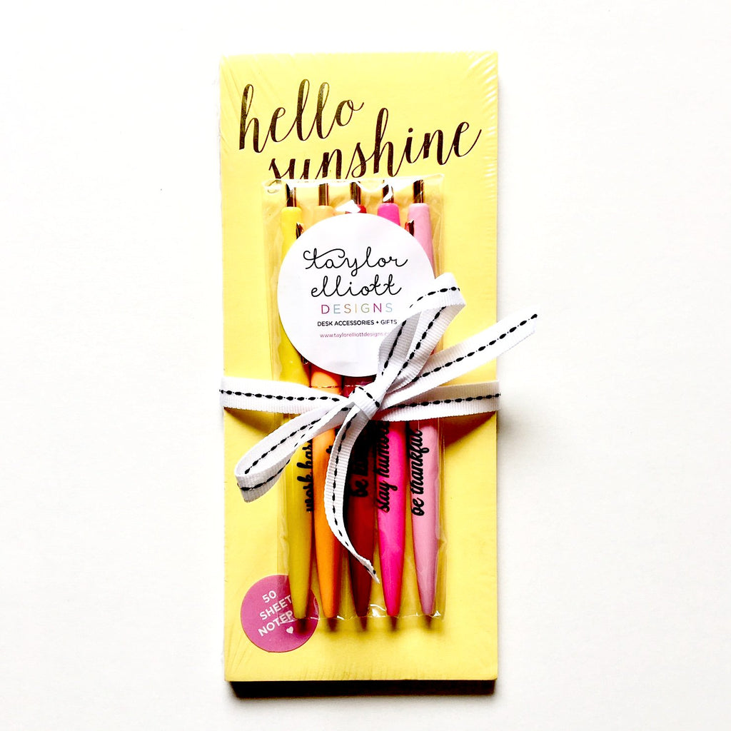 Sunshine Notepad and Pencil Set