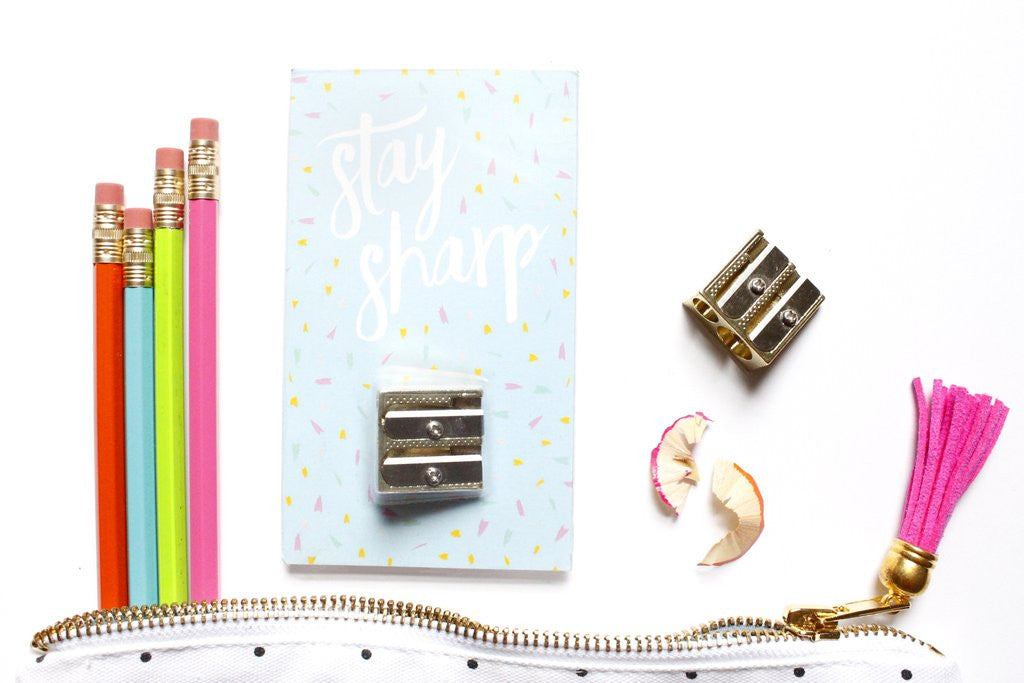 Stay Sharp Gold Pencil Sharpener - Print&Paper