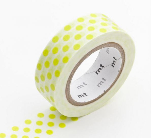 Washi Dot - yellow green - Print&Paper