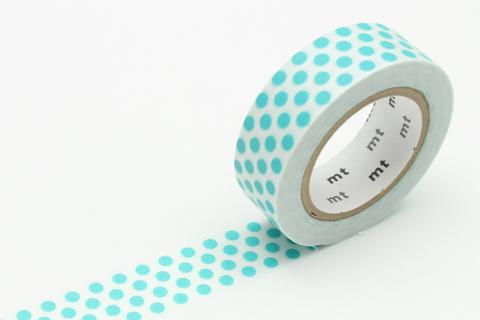 Mint Gold Foil Dot Washi
