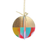 Chipboard Painted Ornaments  - Holiday Dot