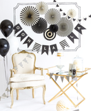 Black and White Party Fans - Print&Paper