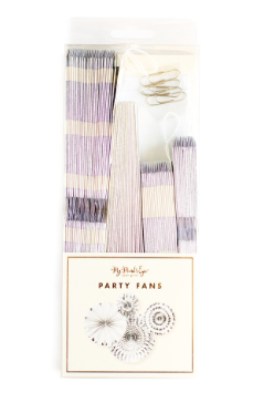Basics Silver Party Fans - Print&Paper