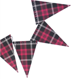 Plaid Mini Pennant Banner - Print&Paper