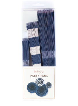 Navy Party Fans - Print&Paper