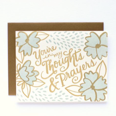 Thoughts & Prayers Card - Print&Paper