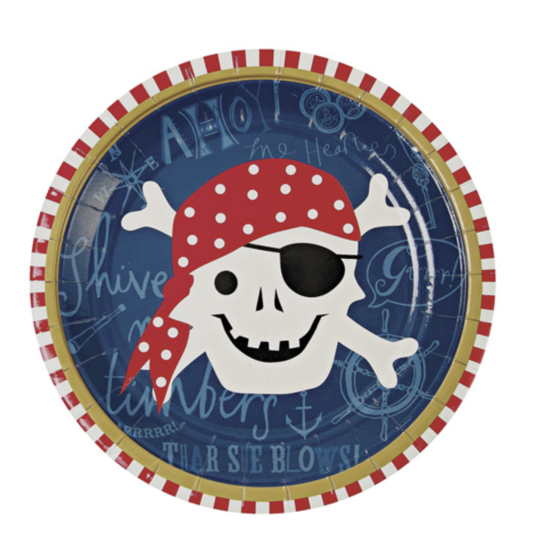Ahoy Pirate Small Plate - Print&Paper