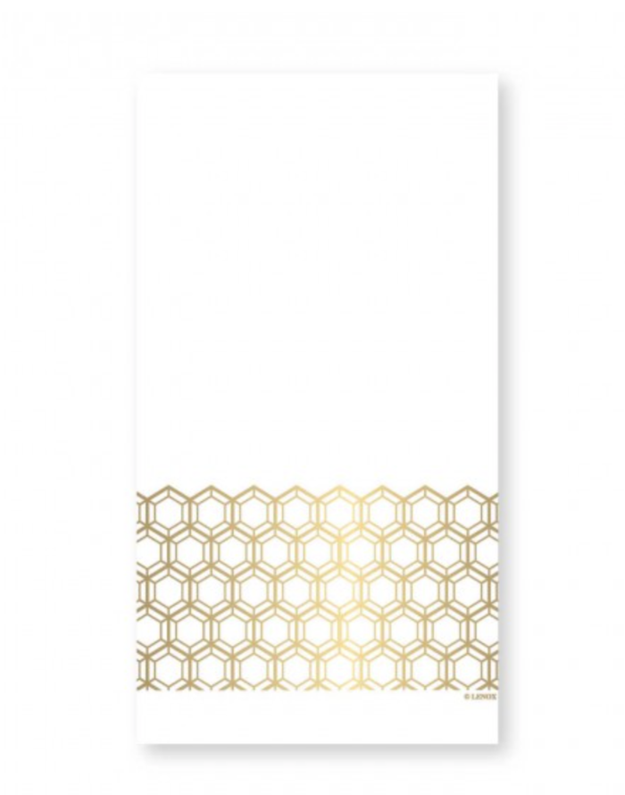 Prismatic Gold Guest / Dinner Napkin - Print&Paper